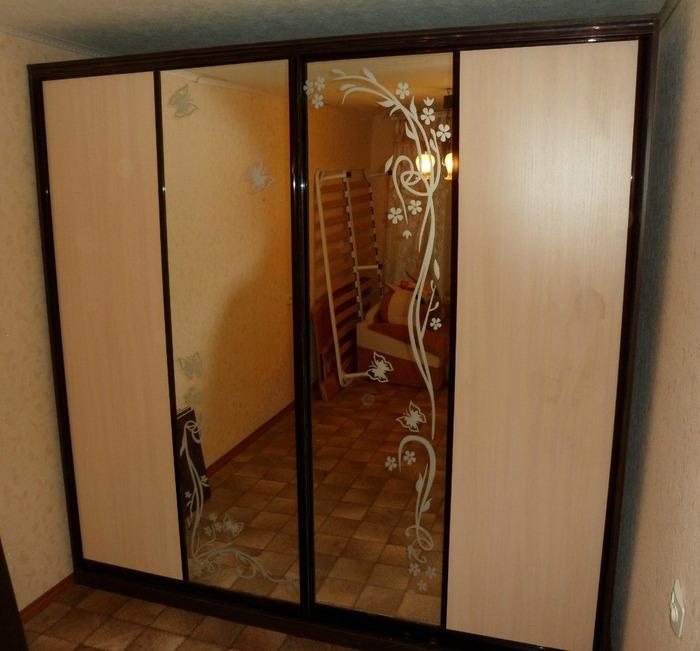 Большой шкаф-купе-Шкаф-купе с зеркалом «Модель 148»-фото1