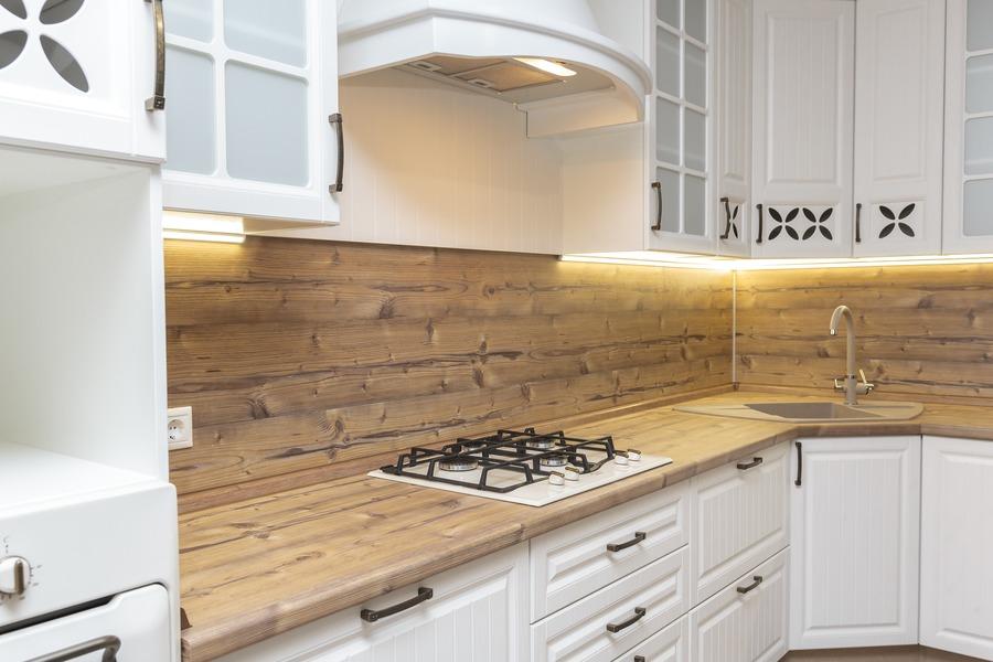 Белый кухонный гарнитур-Кухня МДФ в ПВХ «Модель 10»-фото5