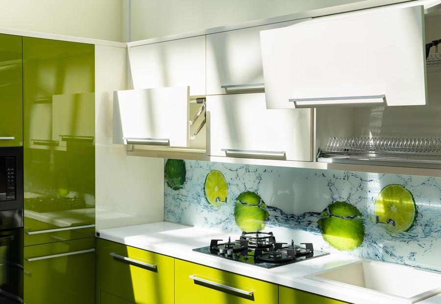 Глянцевые кухни-Кухня МДФ в ПВХ «Модель 53»-фото3