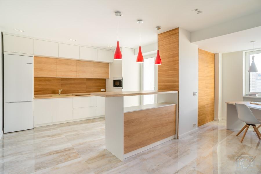 Белый кухонный гарнитур-Кухня МДФ в эмали «Модель 5»-фото1