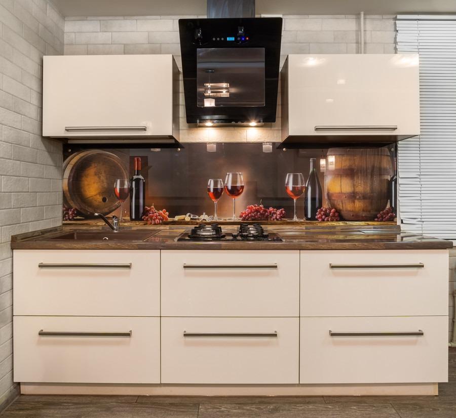 Белый кухонный гарнитур-Кухня из пластика «Модель 2»-фото3