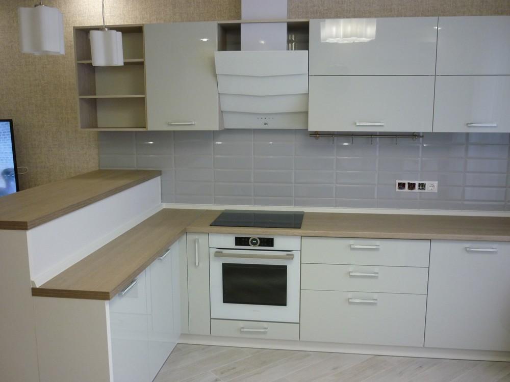 Акриловые кухни-Кухня из пластика «Модель 319»-фото3
