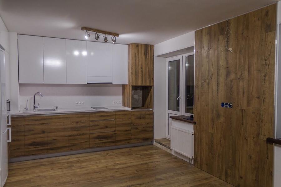 Белый кухонный гарнитур-Кухня из пластика «Модель 422»-фото1