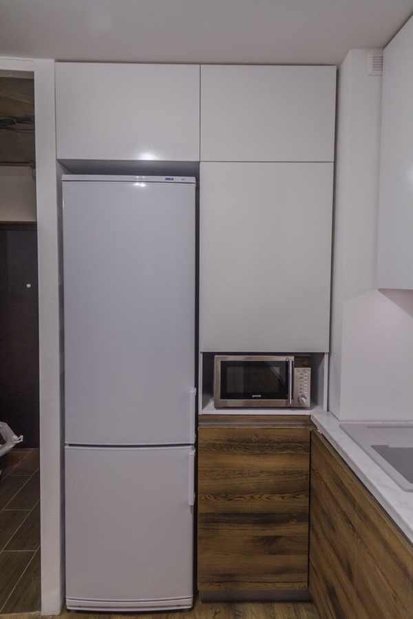 Белый кухонный гарнитур-Кухня из пластика «Модель 422»-фото3
