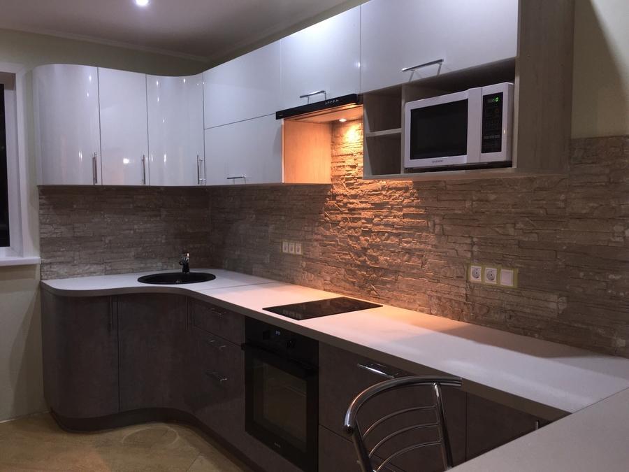 Белый кухонный гарнитур-Кухня «Модель 507»-фото1