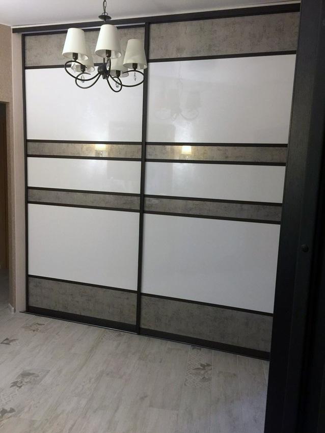 Белые шкафы-купе-Шкаф-купе из ЛДСП «Модель 371»-фото1