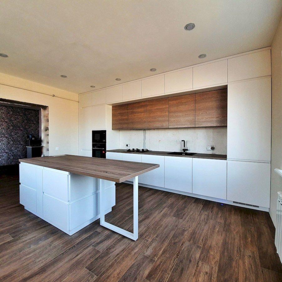 Белый кухонный гарнитур-Кухня МДФ в эмали «Модель 545»-фото1