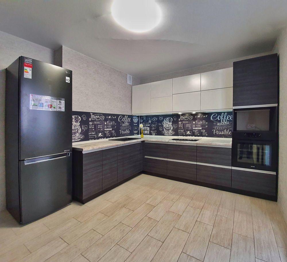 Белый кухонный гарнитур-Кухня МДФ в эмали «Модель 534»-фото1