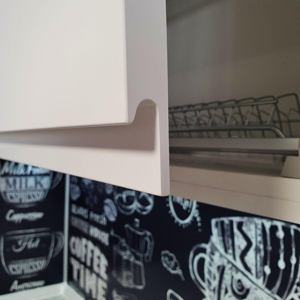 Белый кухонный гарнитур-Кухня МДФ в эмали «Модель 534»-фото7