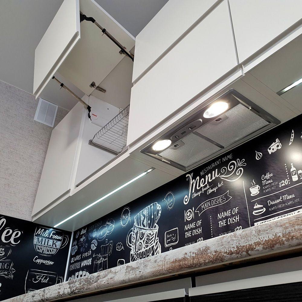 Белый кухонный гарнитур-Кухня МДФ в эмали «Модель 534»-фото4