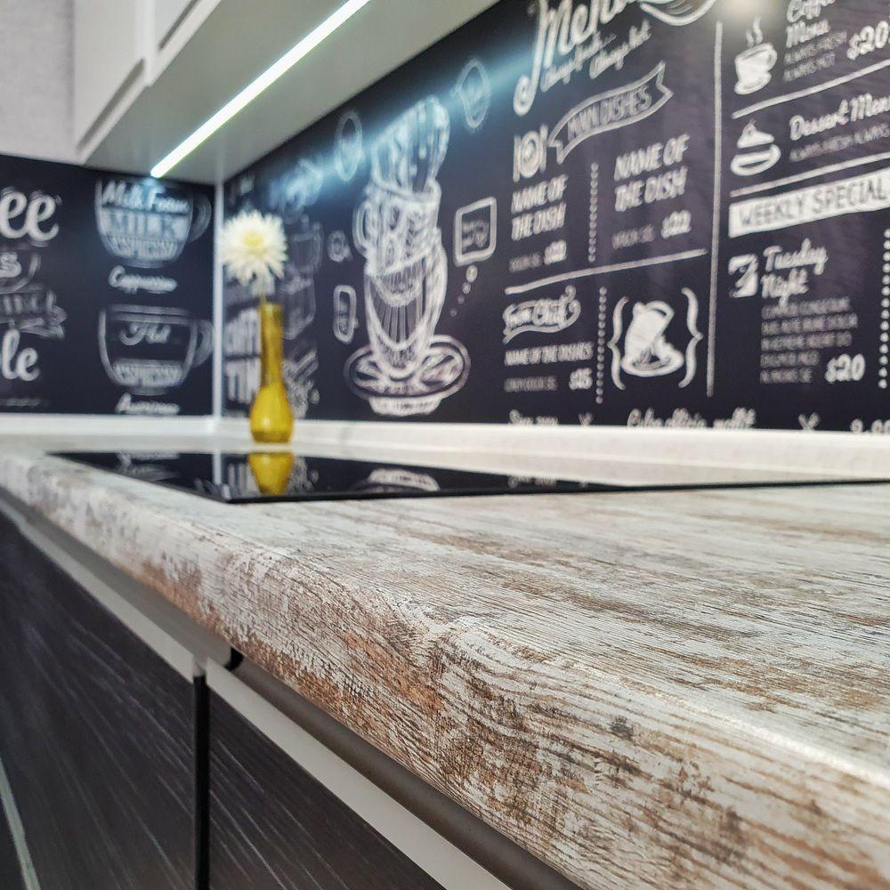 Белый кухонный гарнитур-Кухня МДФ в эмали «Модель 534»-фото5