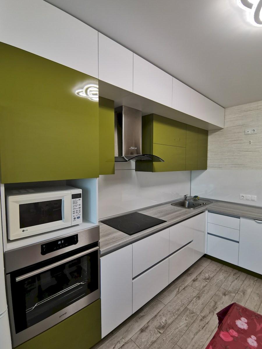 Белый кухонный гарнитур-Кухня из пластика «Модель 572»-фото5