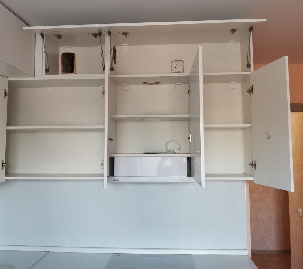 Белый кухонный гарнитур-Кухня МДФ в эмали «Модель 561»-фото5