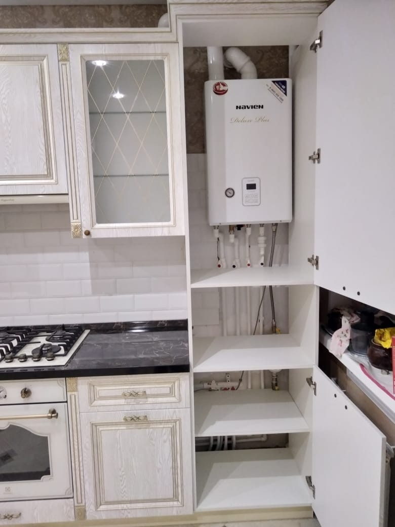 Белый кухонный гарнитур-Кухня из шпона «Модель 581»-фото6