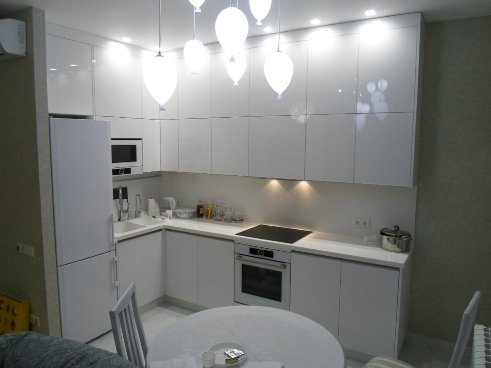 Акриловые кухни-Кухня МДФ в эмали «Модель 203»-фото1