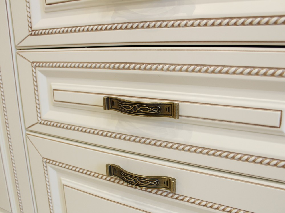 Белый кухонный гарнитур-Кухня МДФ в ПВХ «Модель 140»-фото4