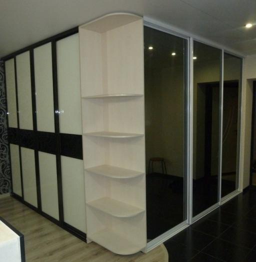 Белые шкафы-купе-Шкаф-купе с зеркалом «Модель 257»-фото3