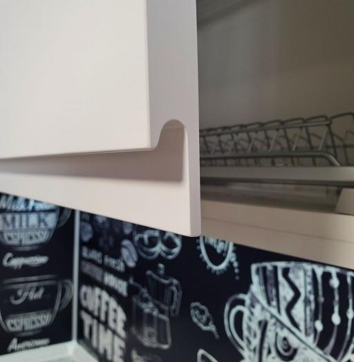 Белый кухонный гарнитур-Кухня МДФ в эмали «Модель 534»-фото8